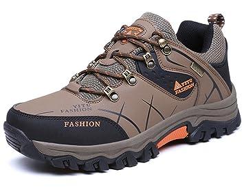 Men's Hiking Boots High Top Trekking Shoes Non Slip Outdoor Warm Waterproof Walking Climbing Sneakers