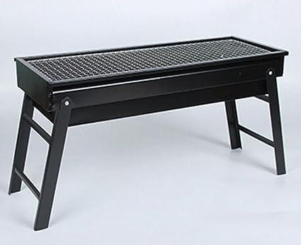 LJXWH Barbacoa plegable al aire libre parrilla de carbón barbacoa horno de barbacoa portátil caja de