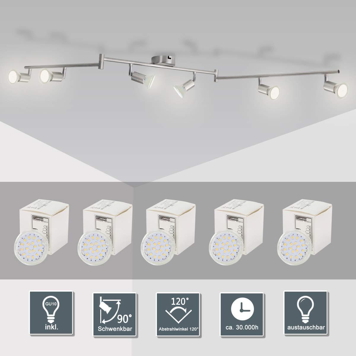 Faretti Led 6 Watt.Led Ceiling Light Rotatable Spotlight For Kitchen Living