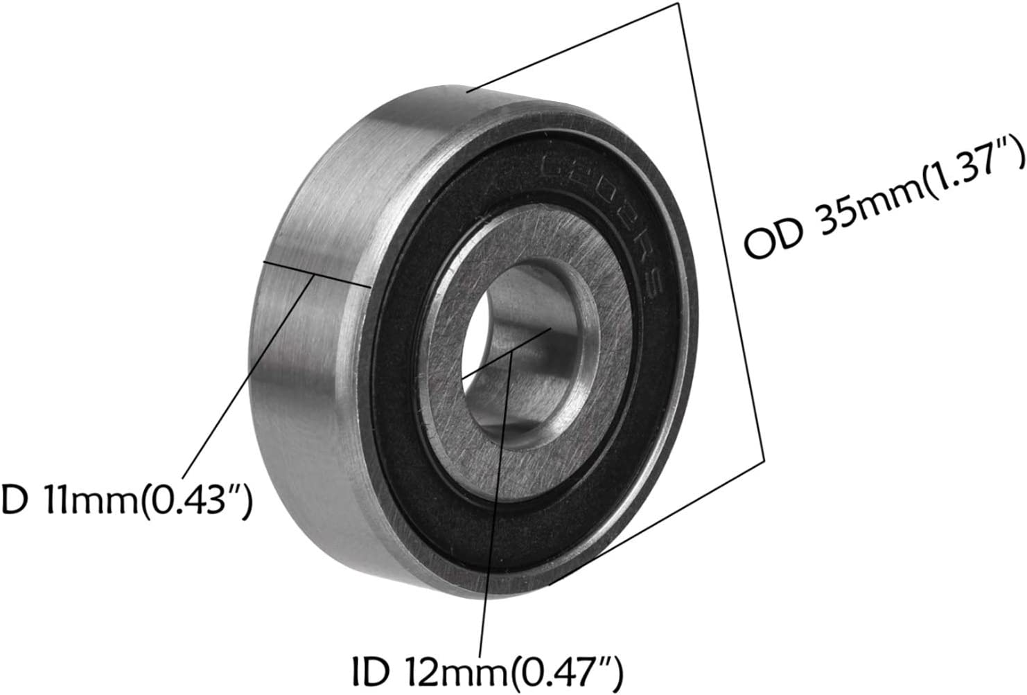 ZXTDR Front Spacer Bushes Sleeves with 2Pcs 6202 RS Ball Bearings for 15mm to 12mm Dirt Pit Bike Wheel Axle Front Spacer