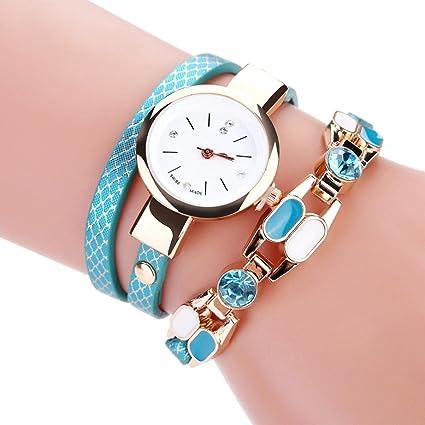 Relojes Pulsera Mujer ❤ Amlaiworld Reloj niña Reloj de brazalete de diamantes de señoras Mesa