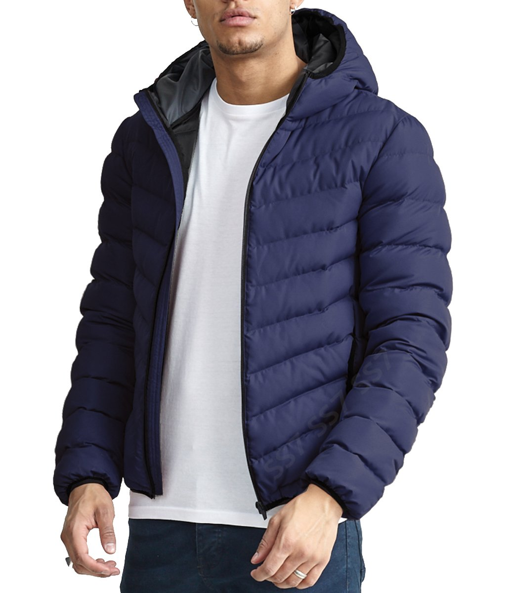 SS7 Boys Quilted Padded Coat, Black, Navy, Ages 7 To 13