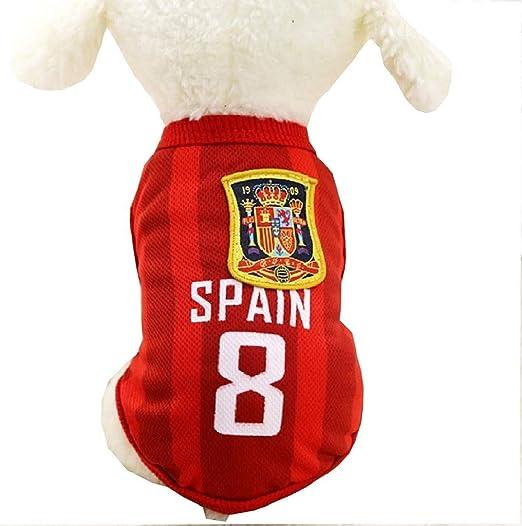 EVRYLON Disfraz de Abanico para Animales Equipo Futbol microbista ultrà españa Perro l: Amazon.es: Productos para mascotas