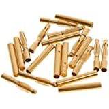Pixnor 50 Pairs of 2.0mm Gold Plated Male and Female Bullet Banana Connectors Plugs for DIY RC Battery ESC Motor