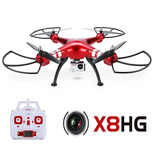 Syma Drone con cámara HD de 5MP X8G 6-Axis Gyro 4CH RC: Amazon.es ...