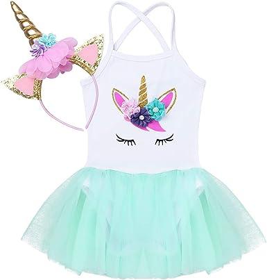 Agoky Vestidos de Princesa para Bebé Niña Disfraz de Unicornio ...