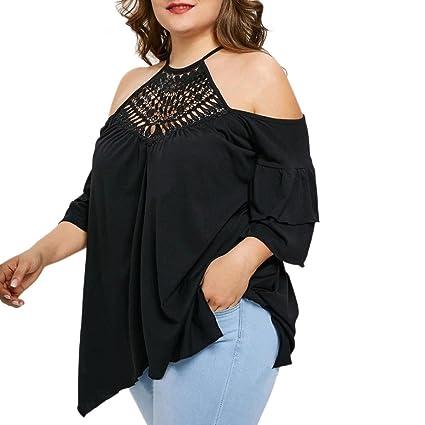 Camisetas y tops Blusas y camisas,Koly Mujer Verano Camisas De Hombro Frío Blusas Tops