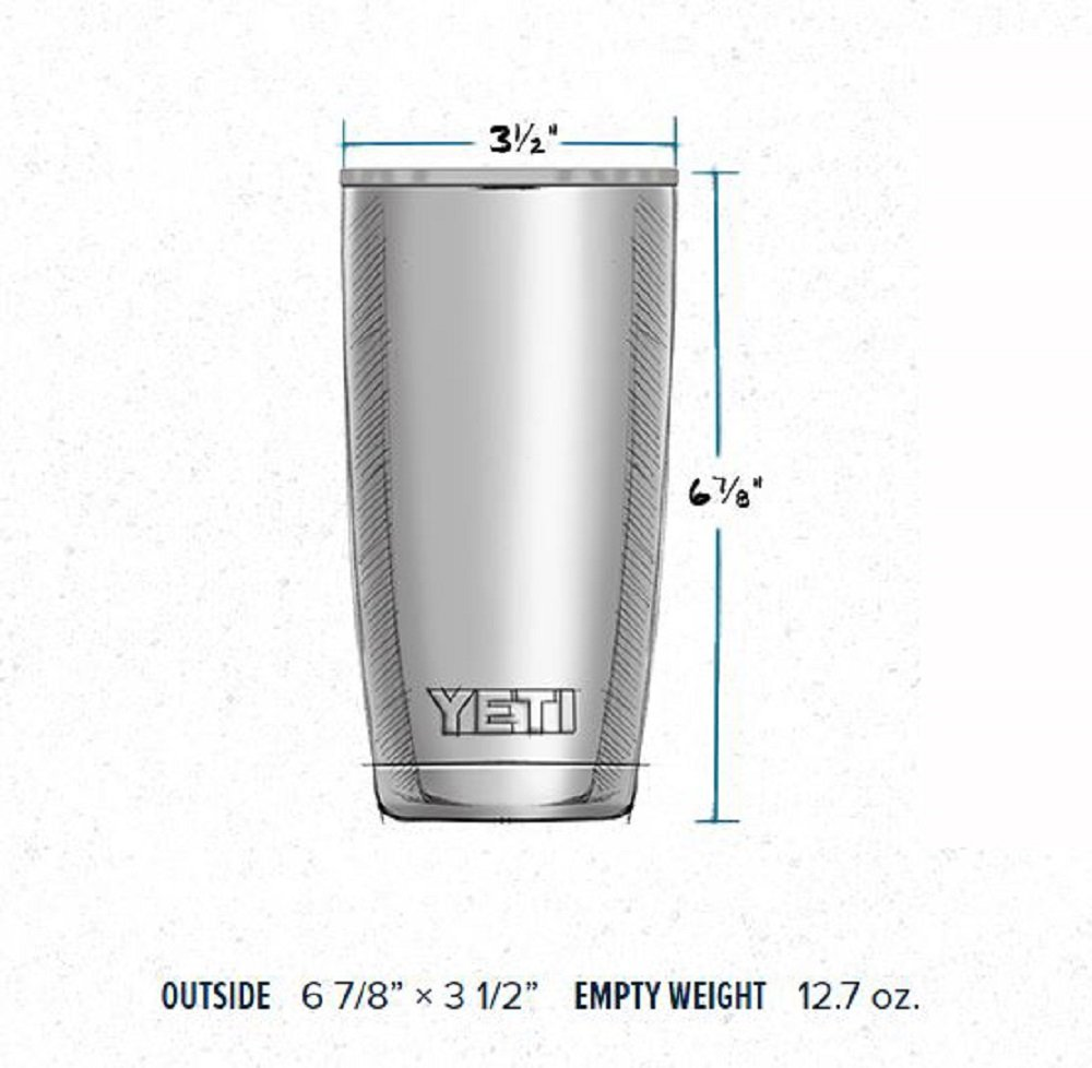 YETI Rambler 20 oz Stainless Steel Vacuum Insulated Tumbler with Lid (Stainless Steel) by YETI (Image #4)