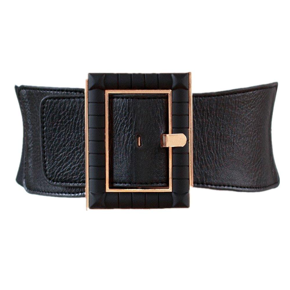 High Waist Elastic Wide Stretch Belt Cinch Dress Belt for Women
