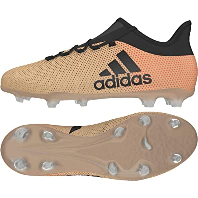 finest selection 02264 594d0 adidas Men s X 17.2 Fg Footbal Shoes, Gold Tagome Cblack Solred, ...