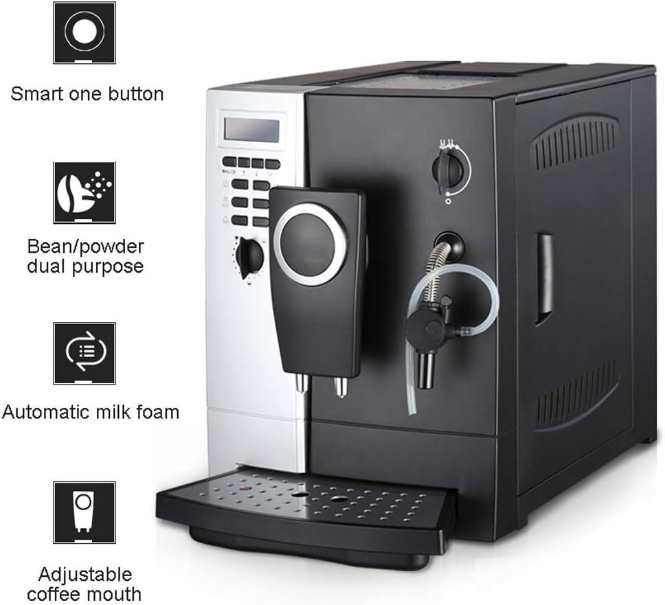 WLNKJ Cafetera Automática, Extracción De Alta Presión De 19 Bar Máquina De Café Y Capuchino Toque Taza Caliente/Función De Limpieza Automática: Amazon.es: Hogar