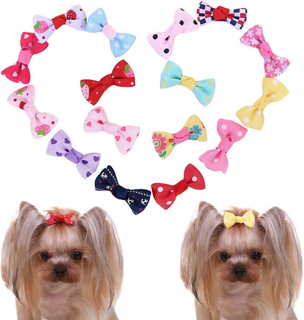 Legendog 16PCS Dog Hair Clip Fashion Dog Hair Accessory Decors Puppy Hair Clip