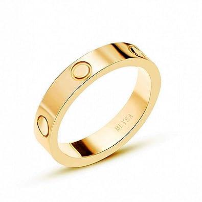 MLYSA Screw Design Ring for Women Men Couples Lover
