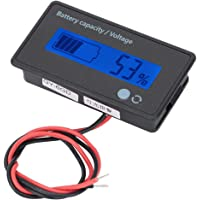 LCD battery indicator, battery capacity monitor, single button for lithium iron battery for lead acid battery for…