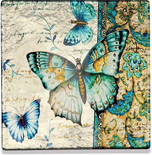 AngelStar 19178 Radiant Butterflies Coasters (Set of 4), 4