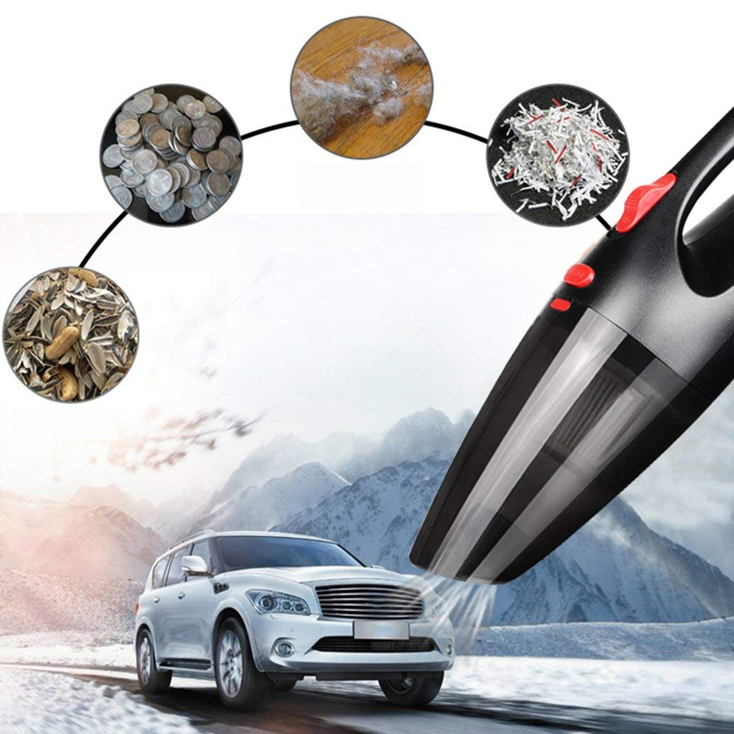 Celerest 120W High Power Car Vacuum Cleaner Dry /& Wet Use Portable Handheld Dust Cleaner Home Cleaning Tool Aspirator