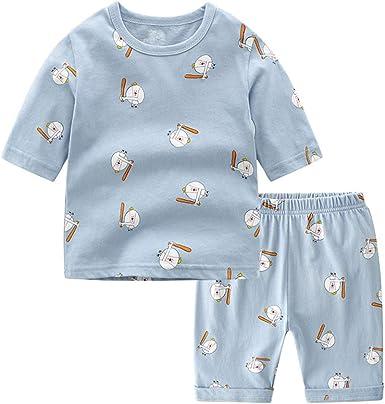 Pijamas de Dos Piezas de Manga Corta para Niño/Niñas, Morbuy ...