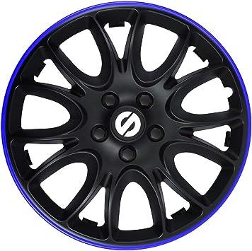 Sparco Spc1494bkbl Satz Radzierblenden Veneto 14 Zoll Schwarz Blau Blue Auto