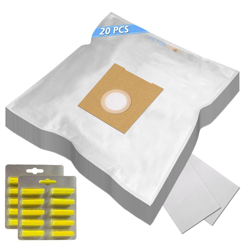 SUPER KIT - 20 Sacchi / Sacchetti (Microfibra) + 20 PROFUMI + 2 Filtri Per aspirapolvere Bosch BSA 3010 Sphera 30 Filterprofi