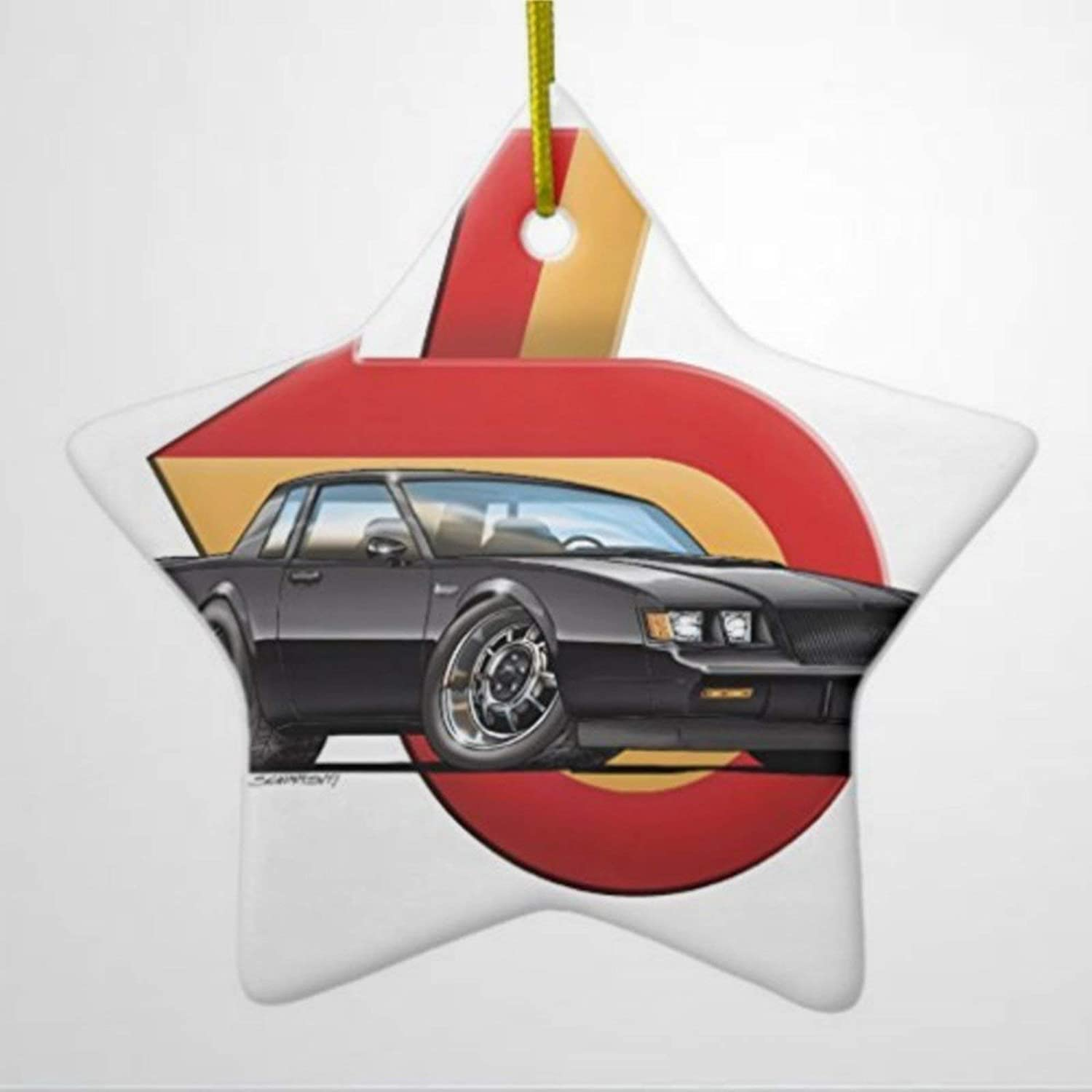 BYRON HOYLE Ornaments for Christmas Tree Buick Grand National Star Decorative Ornament Hanging Christmas Ornaments Pandemic Xmas Decor Wedding Ornament Holiday Present