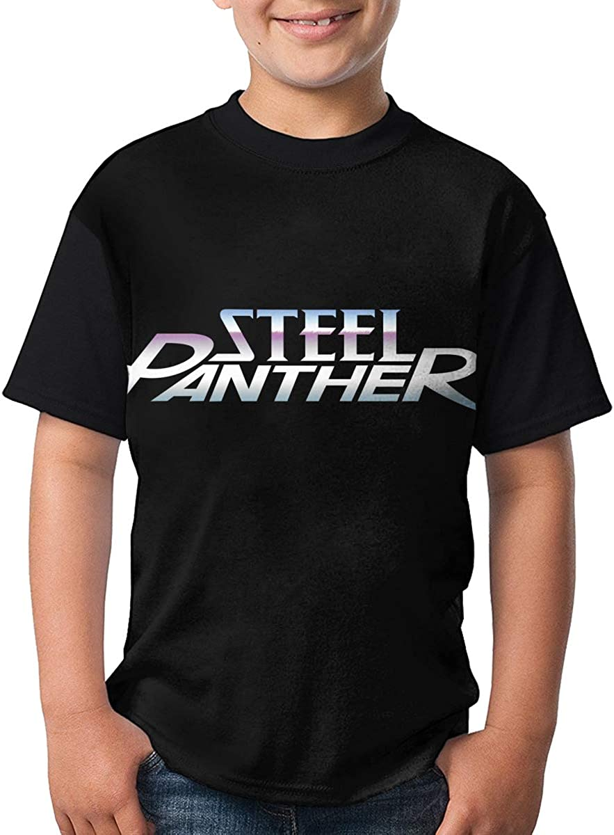 WangSiwe Steel Panther Boys Summer 3D Printing Short Sleeve T-Shirt