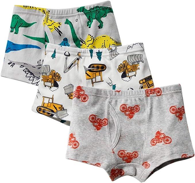 URMAGIC - Calzoncillos bóxer de algodón para niños de 2 a 11 años ...