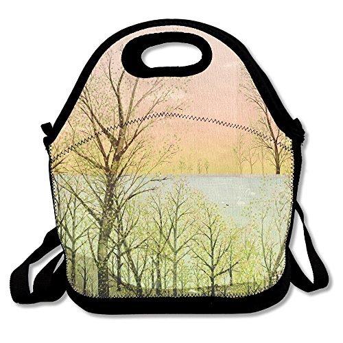 (Neoprene Lunch Tote - Spring Waterproof Reusable Picnic Travel Tote Lunch Bag For Men Women Adults Kids Toddler Nurses With Adjustable Shoulder Strap)