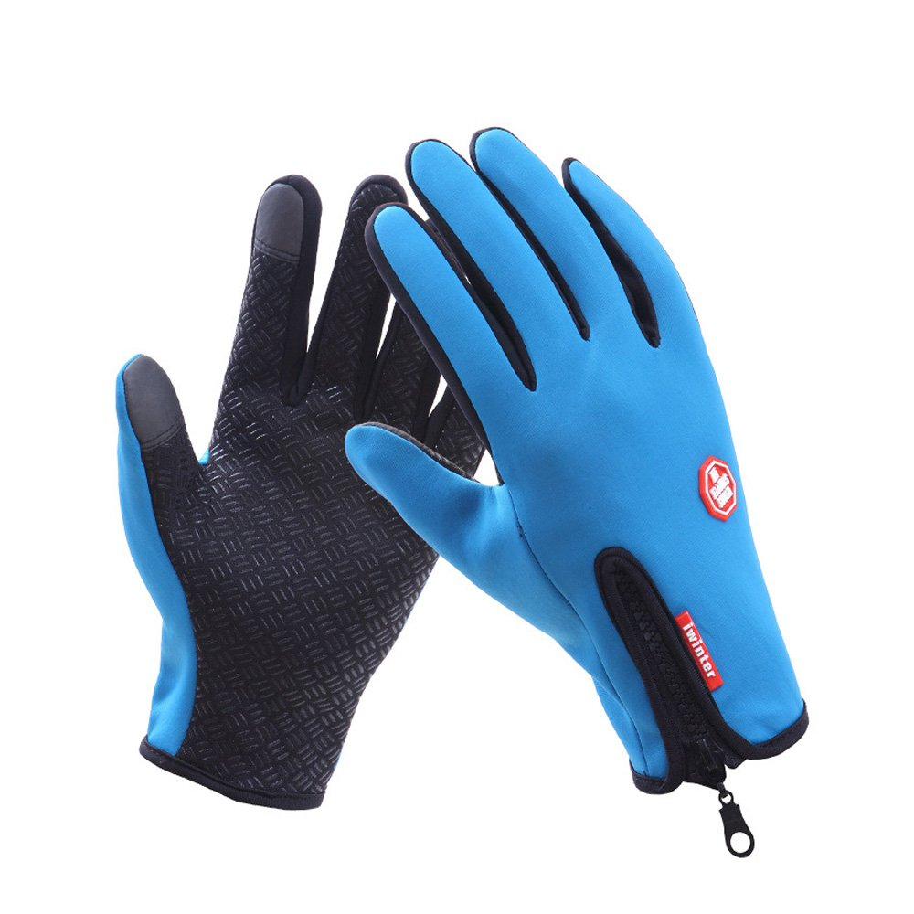 Doscyeeb Men Winter Warm Gloves Windproof Anti-slip Touch Screen Gloves Cold Weather