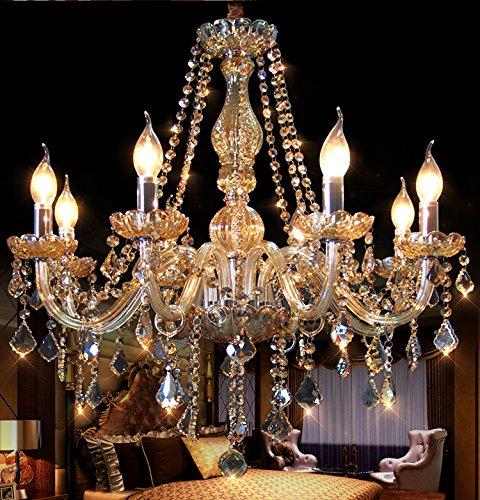 Generic Crystals Chandelier 8 Lights Pendant Lights Island Lamp Color -