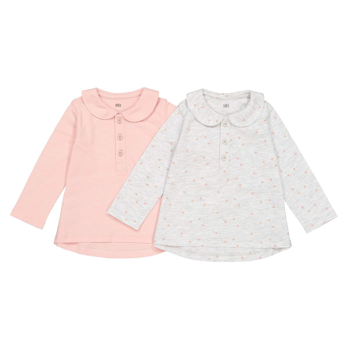 La Redoute Collections Pack of 2 Cotton Peter Pan Collar T-Shirts 1 Month-3 Years