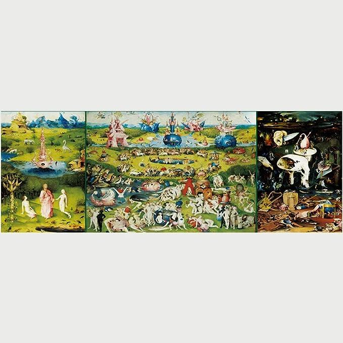 Jqchw Jigsaw Puzzle El jardín de Las delicias 1000 Piezas de Rompecabezas de Madera de Alta definición Impreso Cartel Rompecabezas Obra Maestra clásica for Adultos descompresión Inteligencia Juguetes: Amazon.es: Hogar