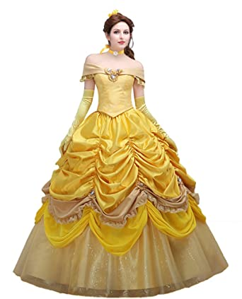 ada3ab692ae Engerla Women S Beauty And The Beast Princess Belle Off Shoulder
