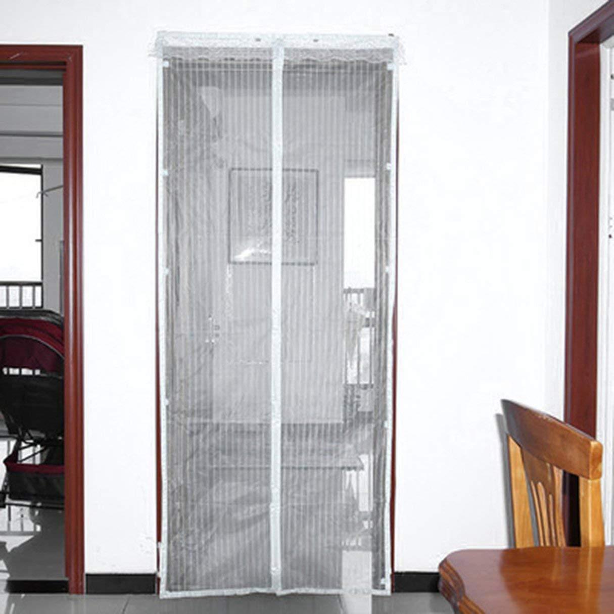 la malla de malla resistente y el velcro de cuadro completo mantienen los insectos fuera permite la entrada de aire fresco./No m/ás mosquitos o insectos./Puerta de cierre autom/ática de malla ma La puerta de mosquiteras Magnetic Fly