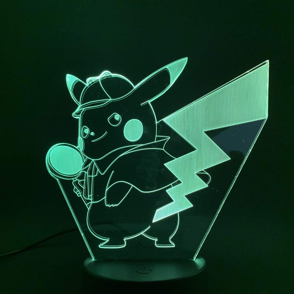 3D Night Light Optical Illusion Table Desk Lamp for Kids Baby Child Baby Nightlight Game Figure Child Study Room Decorative Atmosphere Baby Sleeping Nice Gift IWMAMO