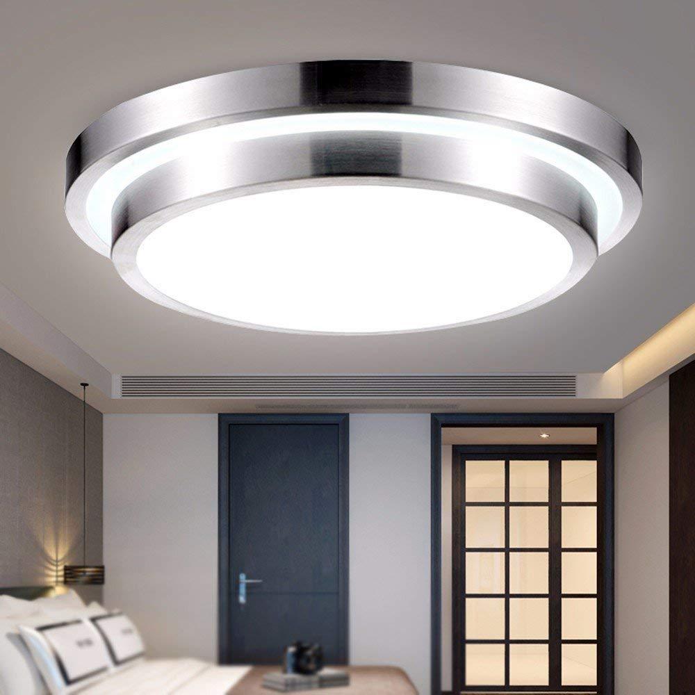 ERD Gzz Deng Home Außenbeleuchtung Deckenleuchte Moderne LED Aluminium LED Rund Wohnzimmer Restaurant 12W a