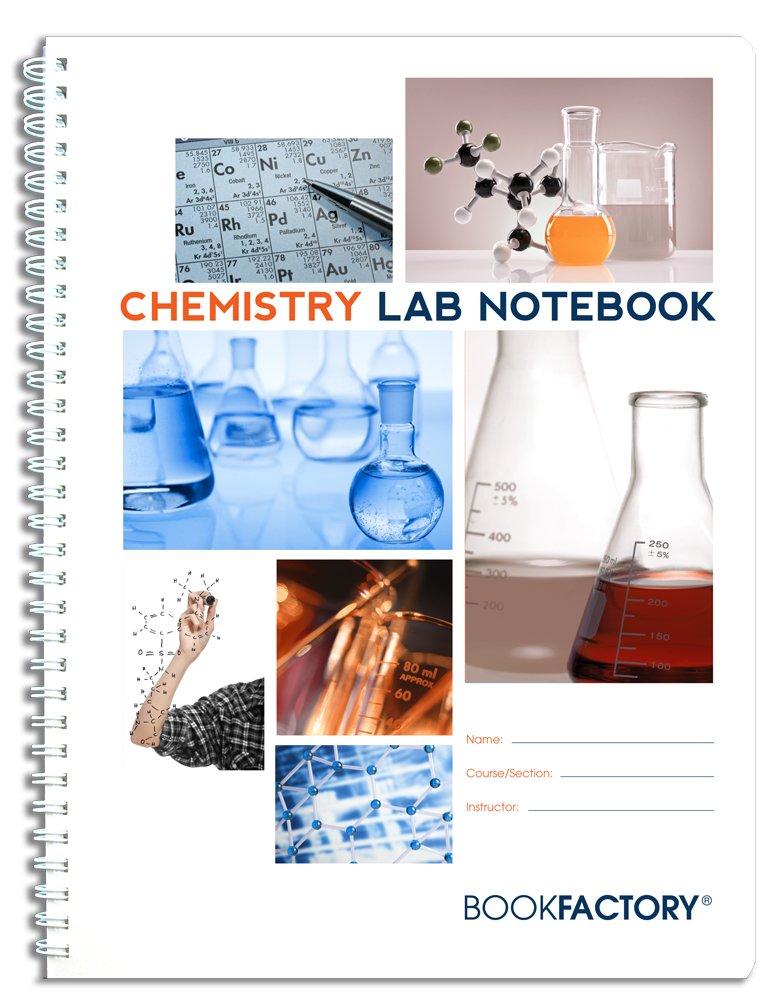 BookFactory 化学実習ノートブック サイエンティフィックグリッドページ 頑丈な半透明のカバー ワイヤOリング製本 ページサイズは8.5インチ×11インチ/21.6cm×27.9cm Standard 8 1/2