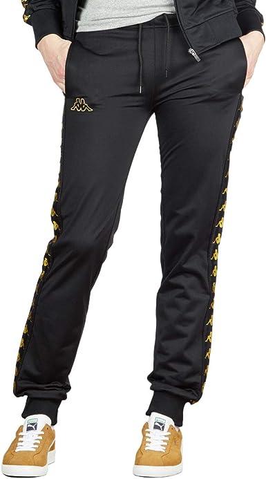 Amazon Com Kappa 222 Banda Wrastoria Pantalones Para Mujer Color Negro Dorado Y Amarillo S Sports Outdoors