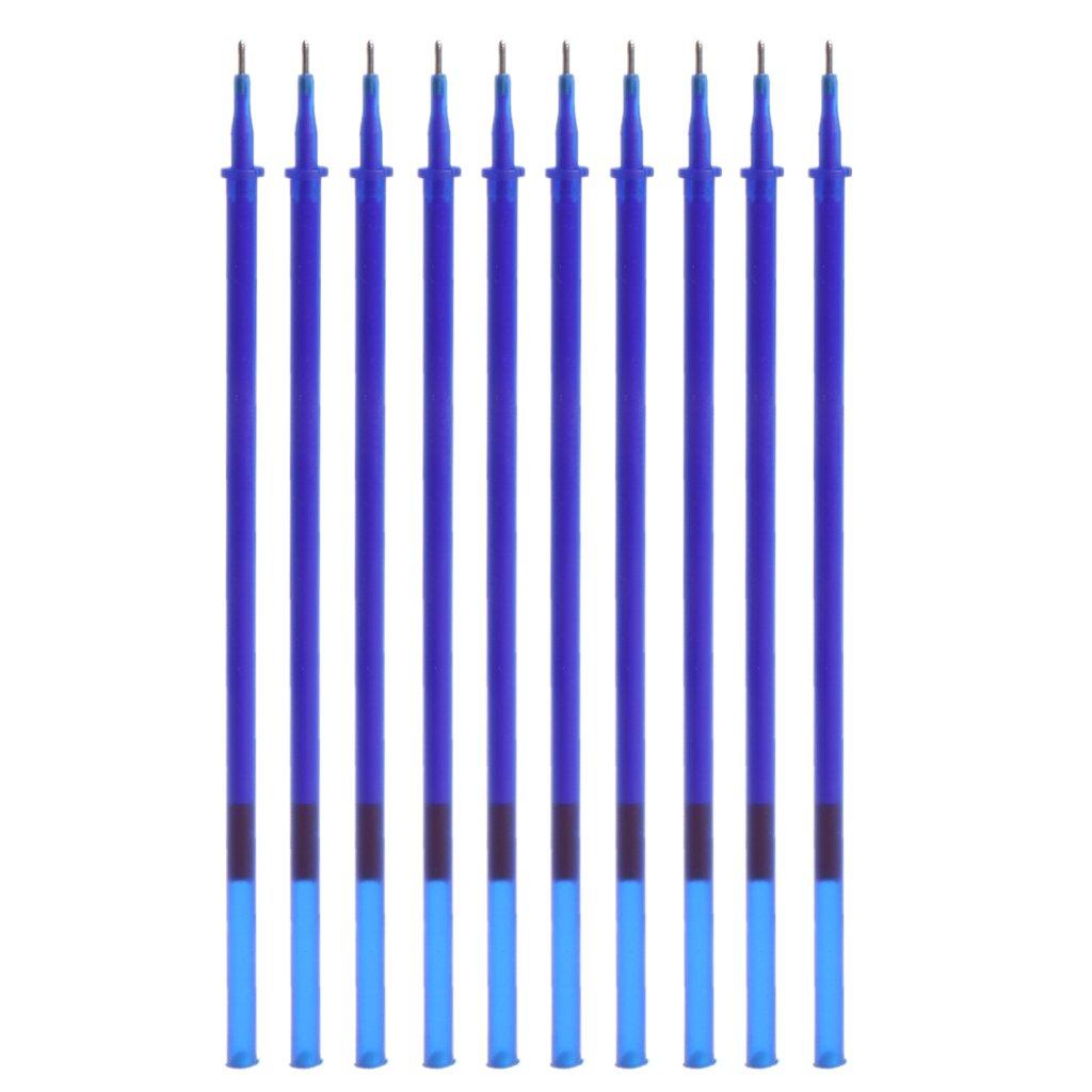 Fafalloagrron 10PCS/set 0.5 mm con inchiostro gel cancellabile penna ricariche Magic writing studio per ufficio Total length: 13cm(5.12in) Nero