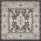 A2Z Rug Charcoal 8′ 4 x 8′ 4 – Feet Tradition Area Rug – Square