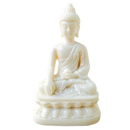 buy ehatti polyresin gautam buddha statue white online at low