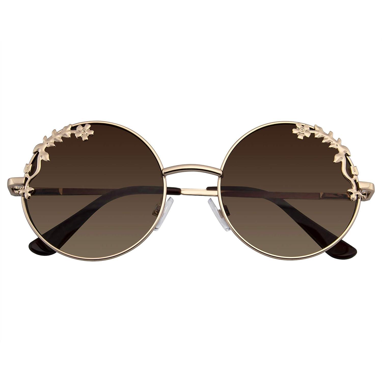 Emblem Eyewear - Gafas De Sol Espejo Floral De Boho De Ronda ...