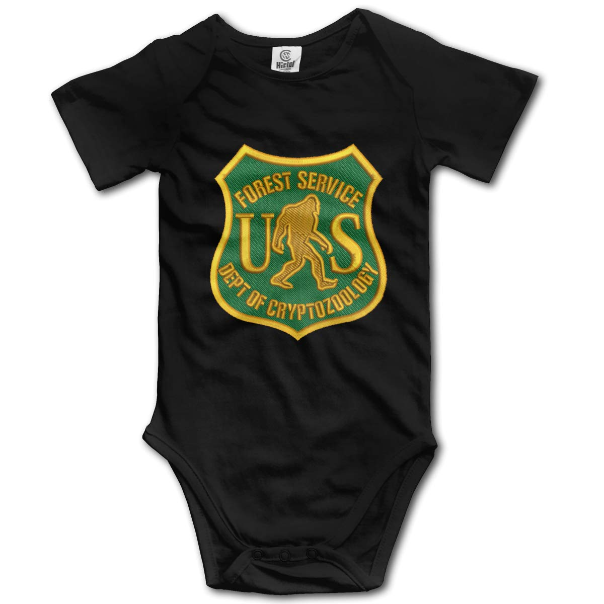 JVNSS Gold US Forest Service Bigfoot Dept Infant Baby Jumpsuit Short Sleeve Onesies Cute Clothes for 0-24 Months Baby