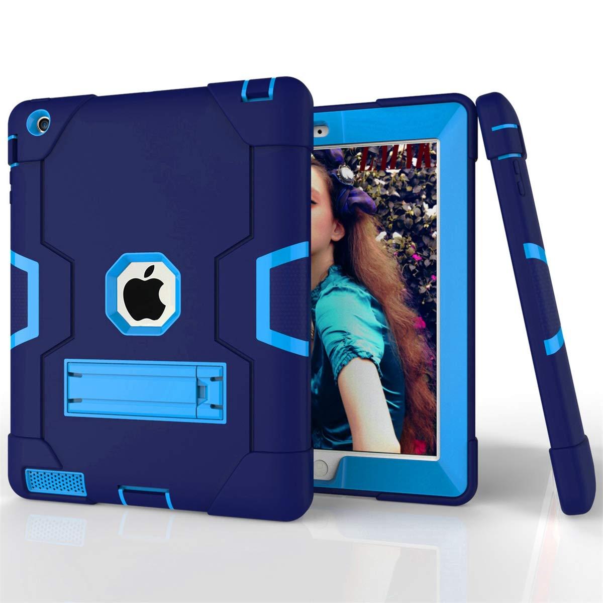 正規品販売! Happon Happon iPad 2 3 4ケース Navy スリム落下保護カバー 優れた背面 アクア +, Blue 19R1-WI-416 Navy Blue + Blue B07L4G71QM, ヒラドシ:2e7fb6c5 --- a0267596.xsph.ru