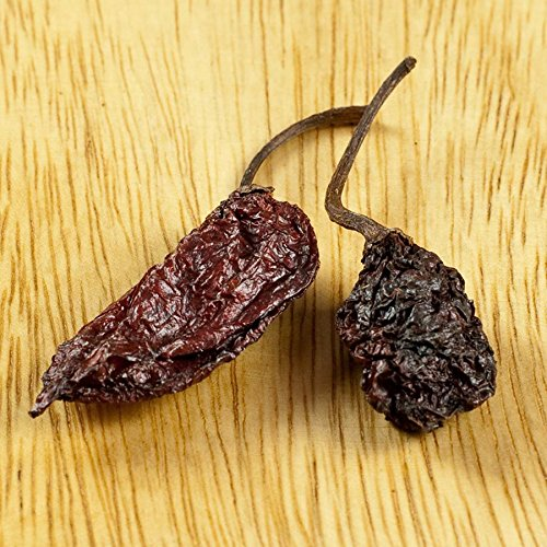 Ghost Chili - Dry, World's Hottest Pepper - 1 resealable bag - 1 lb by Gourmet Food World
