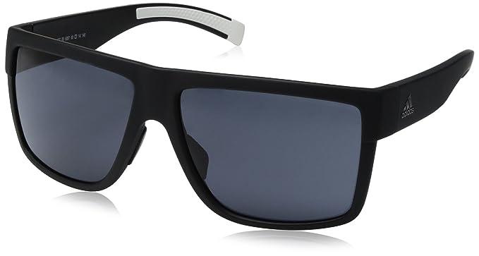 41255e0e4bd75 adidas 3matic Non-Polarized Iridium Rectangular Sunglasses Black Matte 60 mm