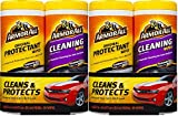 Automotive : Armor All 10848 Protectant and Cleaning Wipe - 25 Sheets, (Pack of 4)