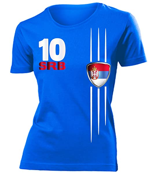 Fútbol EM 2016 – Serbia Fan de manga larga camiseta de mujer S – XXL)