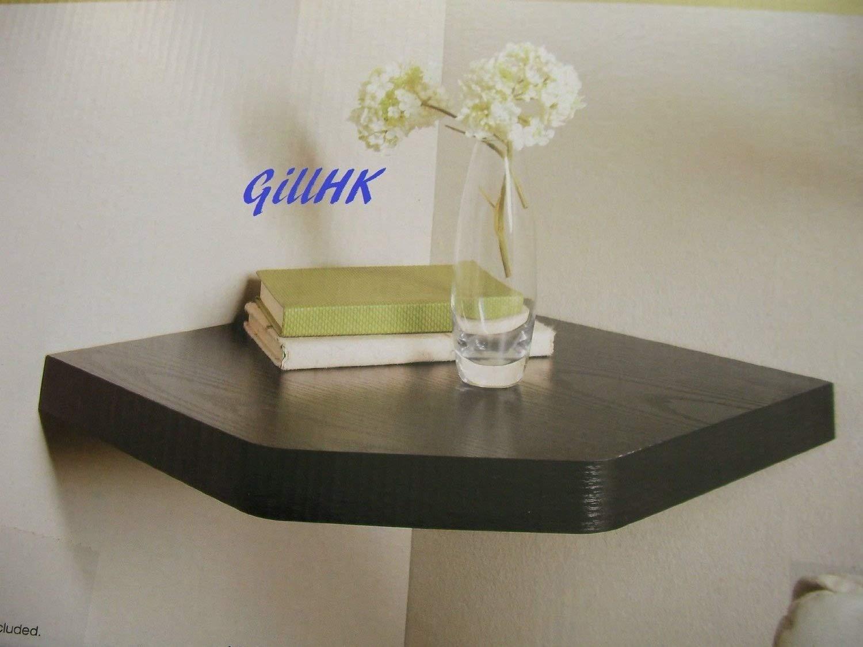 Brand new capri corner floating shelf black amazon co uk kitchen home