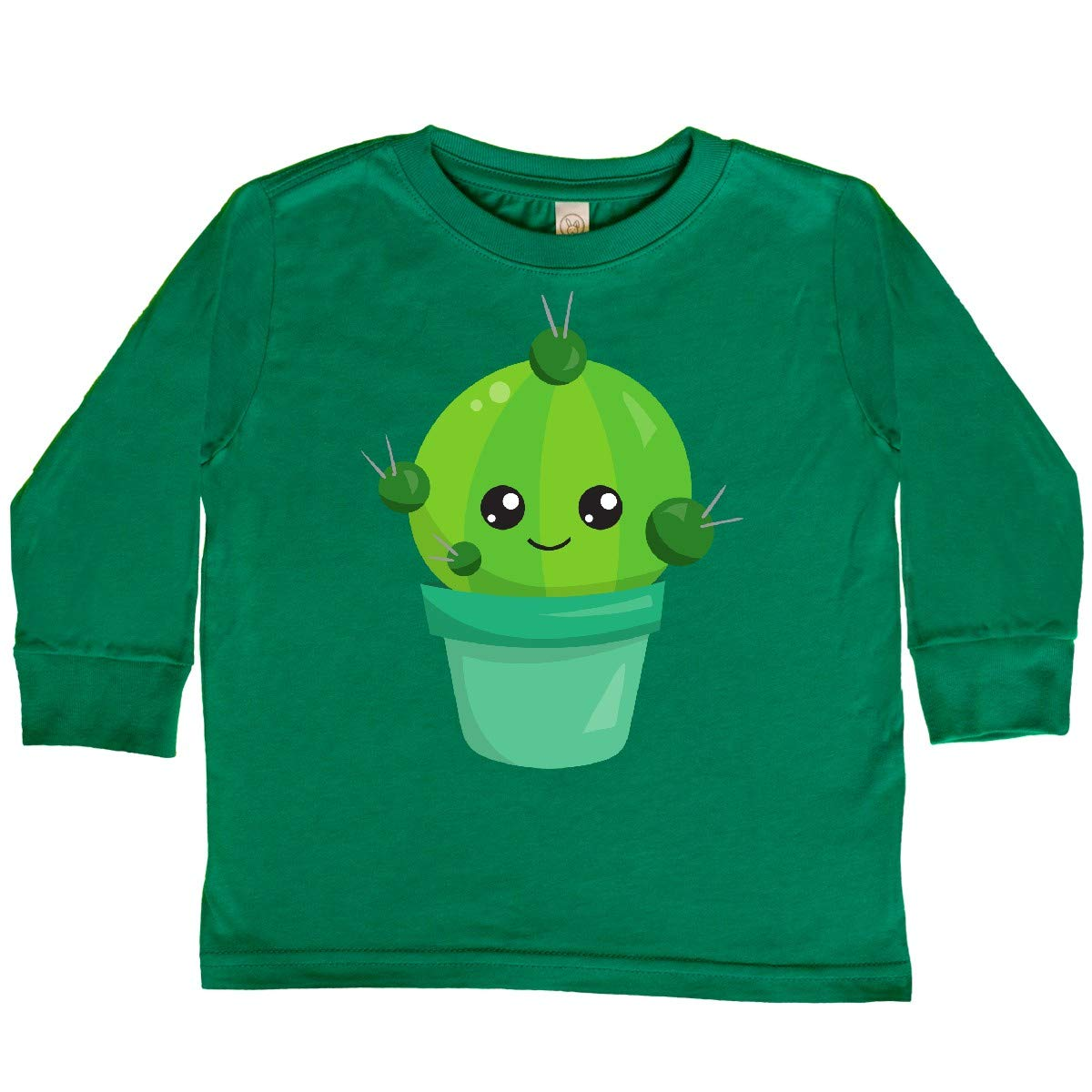 Smiling Toddler Long Sleeve T-Shirt inktastic Little Green Cactus in a Pot