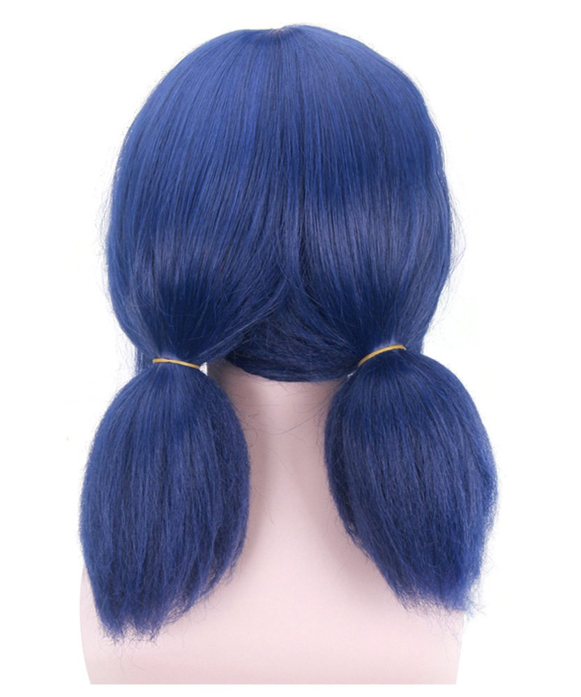DAZCOS Blue Lady Bug Girl Cosplay Wig with Tails [ Adult/Child ] (Blue) by DAZCOS (Image #3)